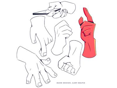 Hands for #LastSelfie animation character design underpants illustration design yeahhaus lastselfie