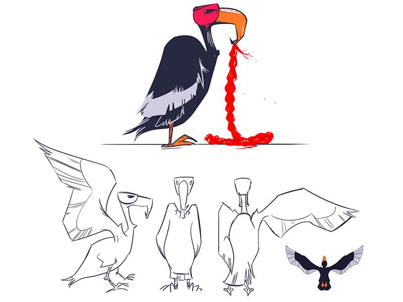 Vulture Design for #LastSelfie animation character design underpants illustration design yeahhaus lastselfie