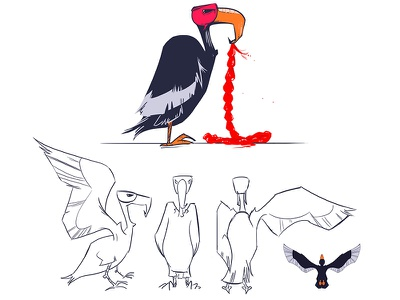 Vulture Design for #LastSelfie animation character design underpants illustration design yeahhaus lastselfie