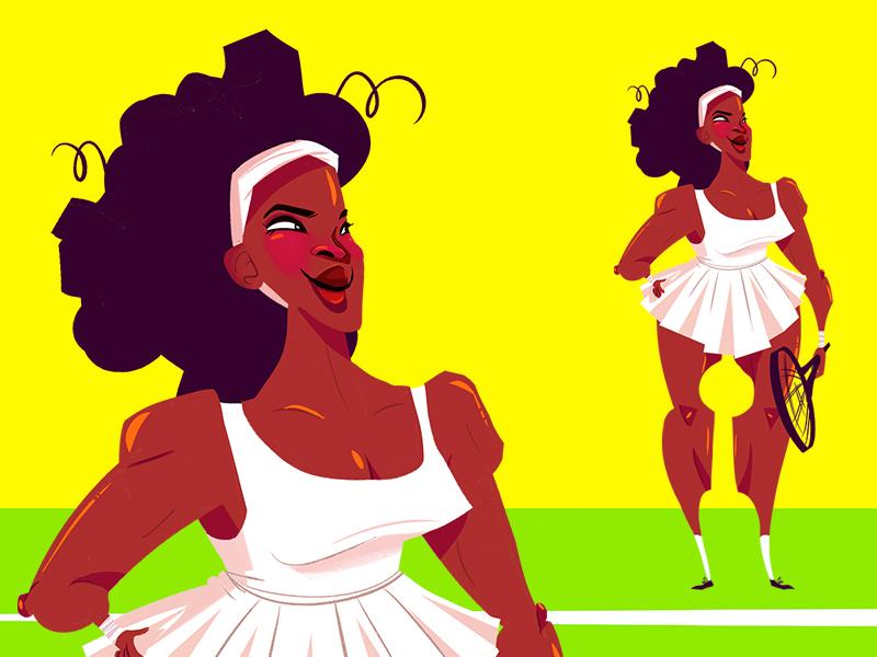 Serena serena williams tennis wimbledon illustration cute character character design