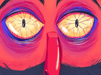 Last Selfie Poster Face poster animation illustration design yeahhaus lastselfie
