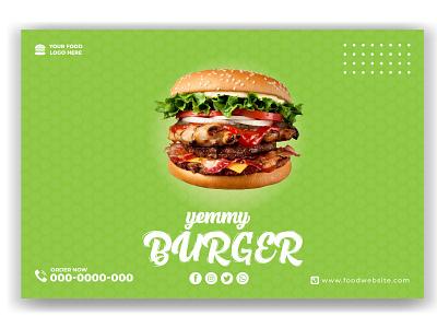 Food Web Banner template web banner sign branding ux vector template marketing