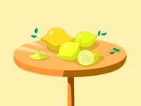 lemons lemon illustration art art vegetarian vegan fruits digital 2d drawing digital art lemonly yellow table lemons design illustration