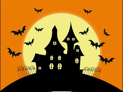 Witch home halloween art digital art children art wireframe witch home illustration drawing paintig digital 2d digital design