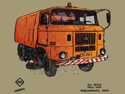 IFA W50 -Sweeper wagon