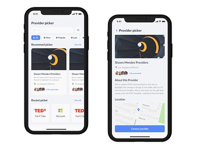 Mobile App provider application design style top location designer application app design likes invite like minimal art app web typography ui design