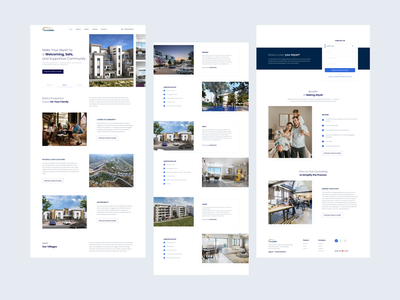 Landing page for a Real Estate redesign modern style designer follow realestate likes like minimal art app web typography ux ui design
