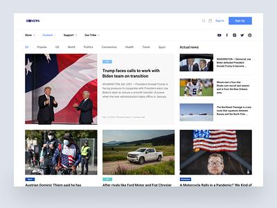 News website landing userexperience userinterface hotnews trend follow likes news websites website invite like ui minimal art app web typography ux design