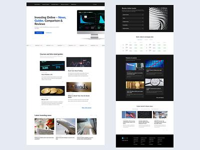 Online Investing Platform - Website webdesign online trading website like ui invite minimal art app web typography ux design