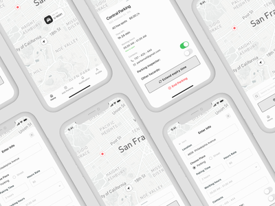 Wireframe | Parking Mobile Application wireframing wireframes app design apple watch mobile design mobile app wireframe invite like ux minimal art app web ui typography design