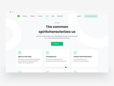About Us page | Our values | Website art logo illustration app web typography ux design branding ui
