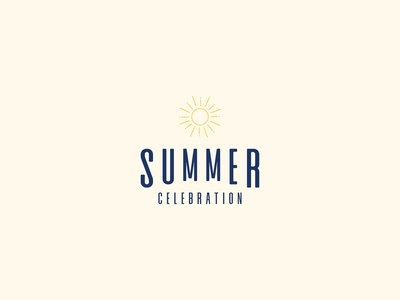 Summer Celebration Event Logo