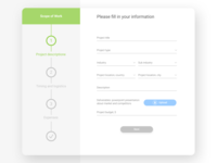 Start page for project information