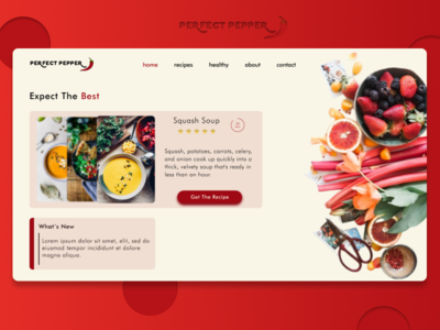 Perfect Pepper - Landing Page Design