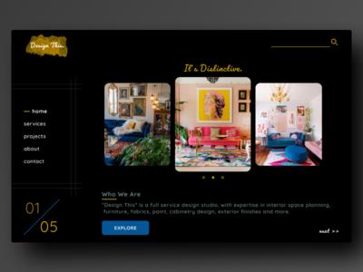 Interior Design Agency - Landing Page Design