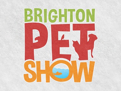Brighton Pet Show college design leaflet billboard logo show pet brighton