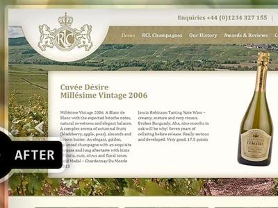 Roger Constant Lemaire Makeover champagne re-design redesign makeover website