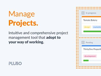 Plutio Projects dubsado teamwork asana trello basecamp illustration flat clean app crm modern task management design projectmanagement projects tasks plutio