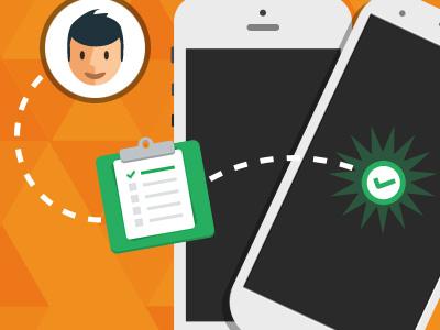 Apptest apptest orange flat design landing website