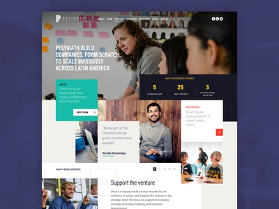 Polymath Ventures Website moodboard web design website vulcan