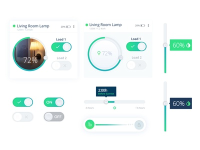 Smartenit Controls switch range on-off color checkbox automation home control ui controls