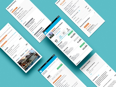 Appfolio blue real state app mobile ui ux