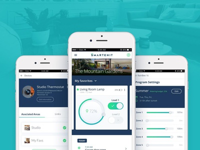 Smartenit APP ux ui automation rules app iot smartenit