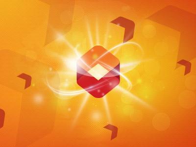 Vistar Media composition spot box logo orange red website