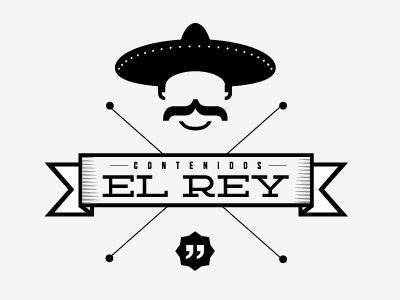 EL REY el rey logo mexican black hat mustache