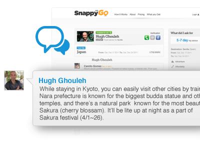SnappyGo snappygo travel blue orange talk icon chat