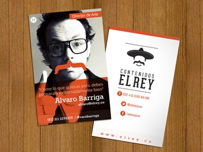 Elrey cards logo stationery business cards brand