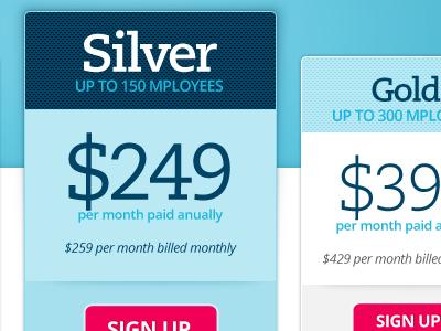 Pricing  acsendo pricing website blue box
