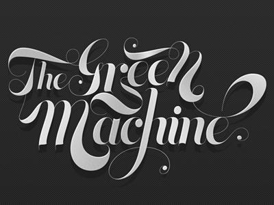 The Green Machine logotype calligraphy lettering mexico mexicano diseño diseno guadalajara mexican design
