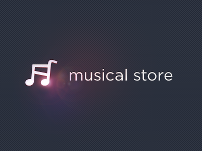 Musical Store logotype store music glare shopping cart note logo diseno diseño guadalajara mexico