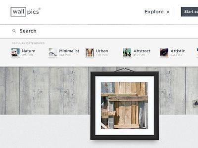 Wallpics ui photos social diseño clean design diseno ux mexico interaction guadalajara