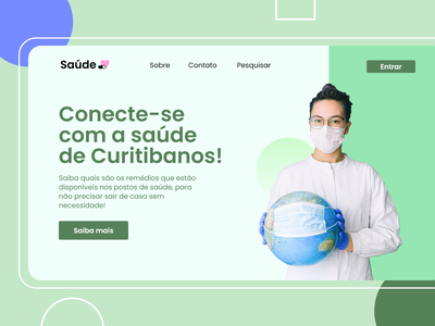 Landing Page for Health ladingpage people adobe xd website web design landing page
