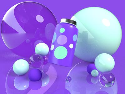 Medicine bottle in Adobe Dimension art abstract adobe dimension
