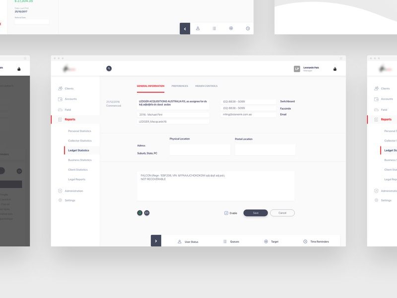 Debt Collection | Ui & Ux layers multipurpose perto design ui design ui  ux software development software design software multitasking tasking tasks clean webdesign web ux ui perto design