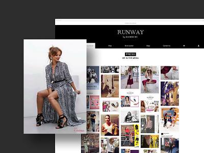 Bamburi & Runway | Webdesign press page websites ui ux design lifestyle brand lifestyle alternative website web ux ui perto design webdesign perto design