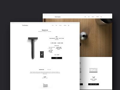 Tatara Razors | Webdesign catalogue design catalogue product page razorback razor friendly home perto design clean website webdesign web ux ui perto design