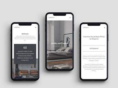 Clerigos82 | Webdesign mobile responsive design renders render 3d modeling real estate luxury homepage home perto design clean web ux ui perto design website webdesign