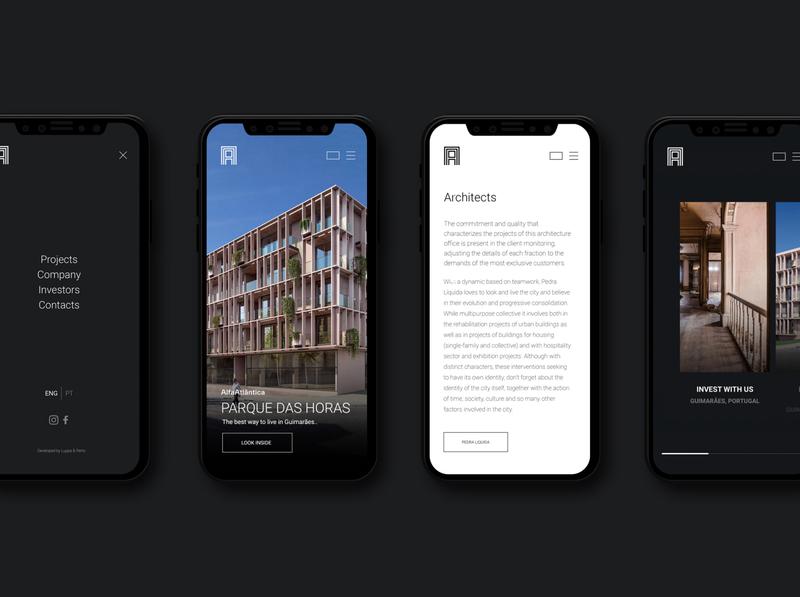 Alfa Atlantica | Webdesign real estate luxury mobile homepage design perto design website webdesign ux ui design