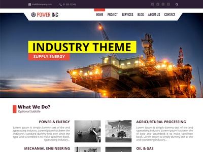 web desgin | industry theme