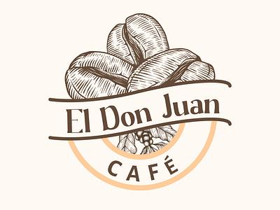 El Don Juan - café gigolo don juan cold coffee warm drink coffee bean cafe logo cafe coffee typography drink drinks branding graphic design vector art illustration vector graphic illustrator