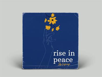 Rise in Peace rise flowers album cover design album cover art album cover album art singer music art music design graphic design vector art illustration vector illustrator