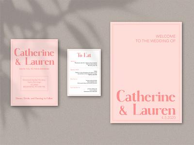 Wedding! - 3 paper menu lovely love lgbt design vector art graphic design graphic vector illustrator stationery sign wedding invitation weddings wedding card wedding