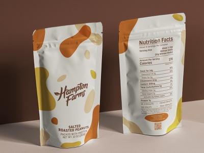 Hampton farms package redesign abstract design soft colors graphic logo branding vector art vector graphic design illustrator natural packaging revamp redesign package peanuts
