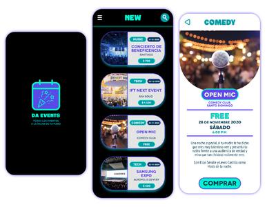 Mobile app - Da Events