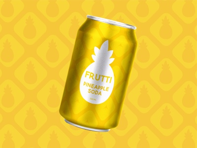 Frutti Soda fruity nature pattern fruit soda pineapple drinks branding graphic design design vector art vector graphic illustrator dribbbleweeklywarmup