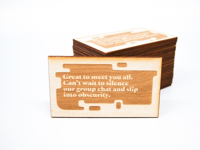 Friendship Forecasting Cards card design cards physical product laser engraving lasercut copywriting design